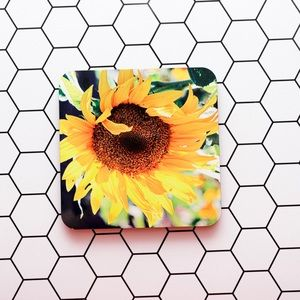 Accents - Sun Flower Coasters, Set of 4.